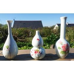 Ensemble de vase à décor de lotus