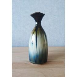 vase en grès flammé aux reflets bleus recto