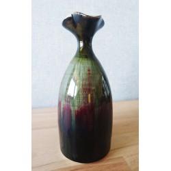 Vase en grès flammé de chine aux reflets rouges