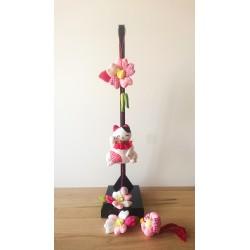 Manekineko et fleurs de sakura
