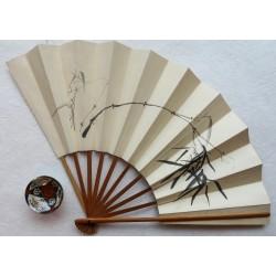 Éventail aux bambous sumi-e