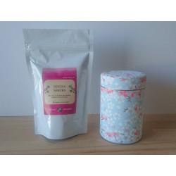 Sachet et boite de thé sakura