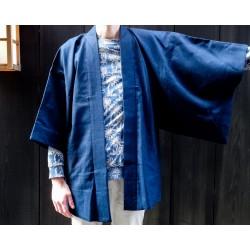 haori japonais bleu pour homme