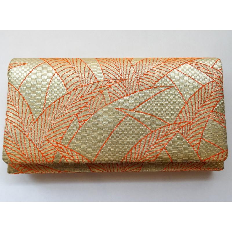 pochette en soie brodée japonaise