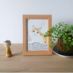 chat peint par Keiko Nogami