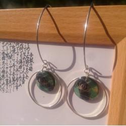 boucles d'oreilles urushi japonaise