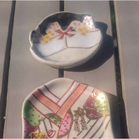 coiffe céramique peint à la main