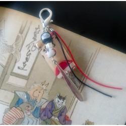 Porte clef résine et perle fait-main d'inspiration japonaise