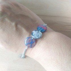 Résine et papier japonais bracelet made in France