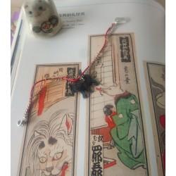 bracelet chat noir komon fait-main par Koneko Shoppu d'inspiration japonaise.