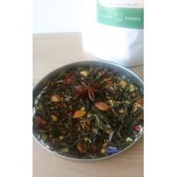 thé vet de noël parfumé naturellement et au thé japonais de la marque Ochaya