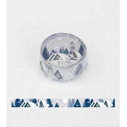 Village sous la neige au Japon washi tape japonais idéal pour vos cadeaux et votre correspondance de noël.