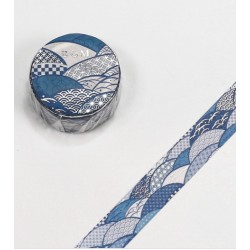 Washi tape Seigaiha wave patterns BGM