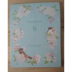 papier à lettre Frontia délicat cerisier en fleurs