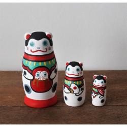 Inu hariko matryashka poupée japon bois artisanat du Japon