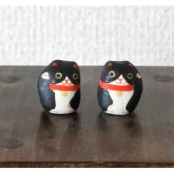 artisanat japonais manekineko noir adorable kawaï de Kyoto Japon import