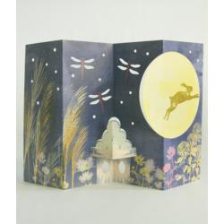 12 cartes paravents autour des 4 saisons au Japon papeterie Japon