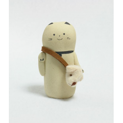 Manekineko sac à main tête d'ours artisanat Kyoto Japon