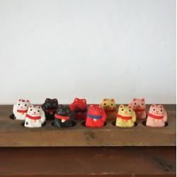 Figurine porcelaine manekineko authentique fait-main Kimura and co