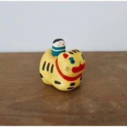 Tigre en porcelaine artisanat Japon Kyoto Kimura and co kawaï import