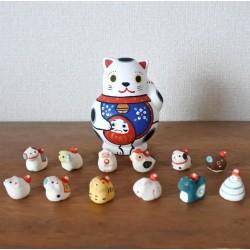 Manekineko poupée collection Kyoto Japon et zodiaque en miniature artisanat