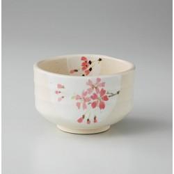 Bol aux fleurs de sakura artisanat japonais