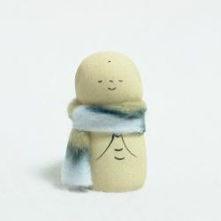 Jizô à l'écharpe création artisanale japonaise de Kyoto Japon