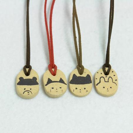 Marque page animal céramique artisanale japonaise Marucoro chan
