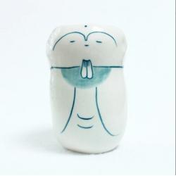 Vase en poterie en forme de Jizô très original. Fait main à Kyoto par Jizodou.