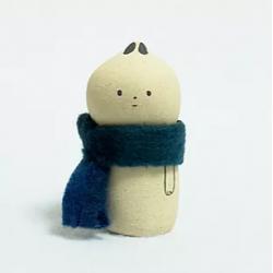 Lapin figurine artisanale japonaise en céramique de Kyoto par Jizodou