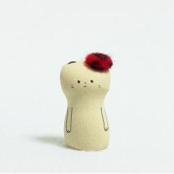 Chat au beret céramique japonaise Jizodou Kyoto