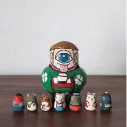 Yokai poupée collection Kyoto Japon et zodiaque en miniature artisanat