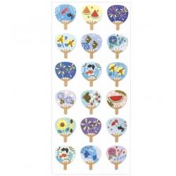 Des stickers au style japonais et aux belles couleurs et motifs de l'été.
