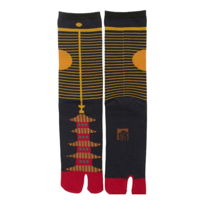 Chaussettes japonaises tabi pagode