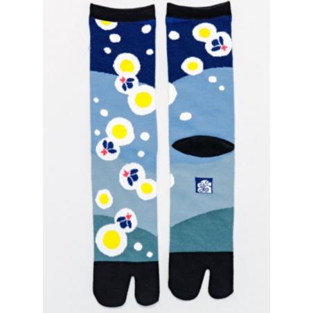 Chaussettes japonaises tabi lucioles