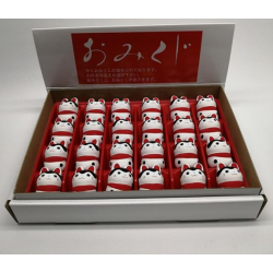 Inu hariko hand made from Seto artist Katotouki made in Japan Omikuji from shrine