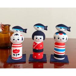 Kokeshi bonite Marucoro chan artisanat japon