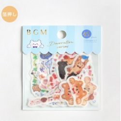 Set of stickers animal motifs decoration series BGM