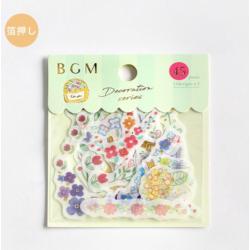 Lot d'Autocollants motifs plantes décoration série BGM