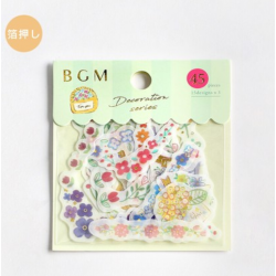 Plants decoration series sticker set BGM