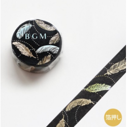 Washi tape black feather BGM