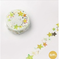 Washi tape colorful stars BGM