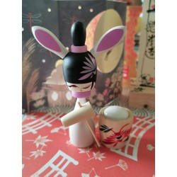 Kokeshi Rabbit making mochis