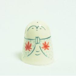 Jizô sama feuille d'automne (poupée céramique)  Kyoto jizodou