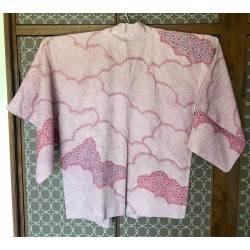 Haori shibori pink cloud...