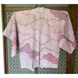 Haori shibori rose nuage...