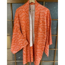 Haori shibori orange saumon