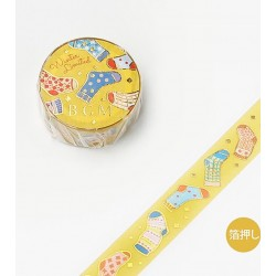 Washi tape Winter socks BGM