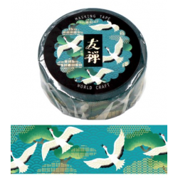 Yuzen otsukimi cranes Washi tape World Craft