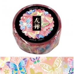 Washi tape Yuzen papillons World Craft